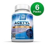 BRI Nutrition BRI-A-L-CARNITINE-180-CAPS (6-Pack) Acetyl L-Carnitine -