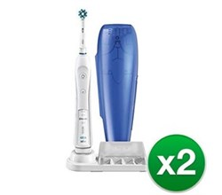 Dual Pack Rechargeable Power Toothbrushes oral b pro 5000 2 pack