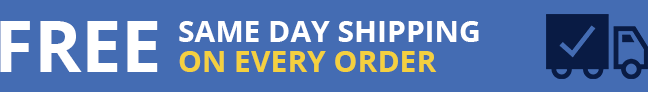 Free same day shipping on every order